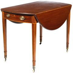 19th Century George III Mahogany Pembroke Drop Table