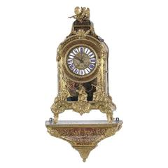 Large Louis XIV Style Ormolu and Boulle Bracket Clock, Vincenti & Cie