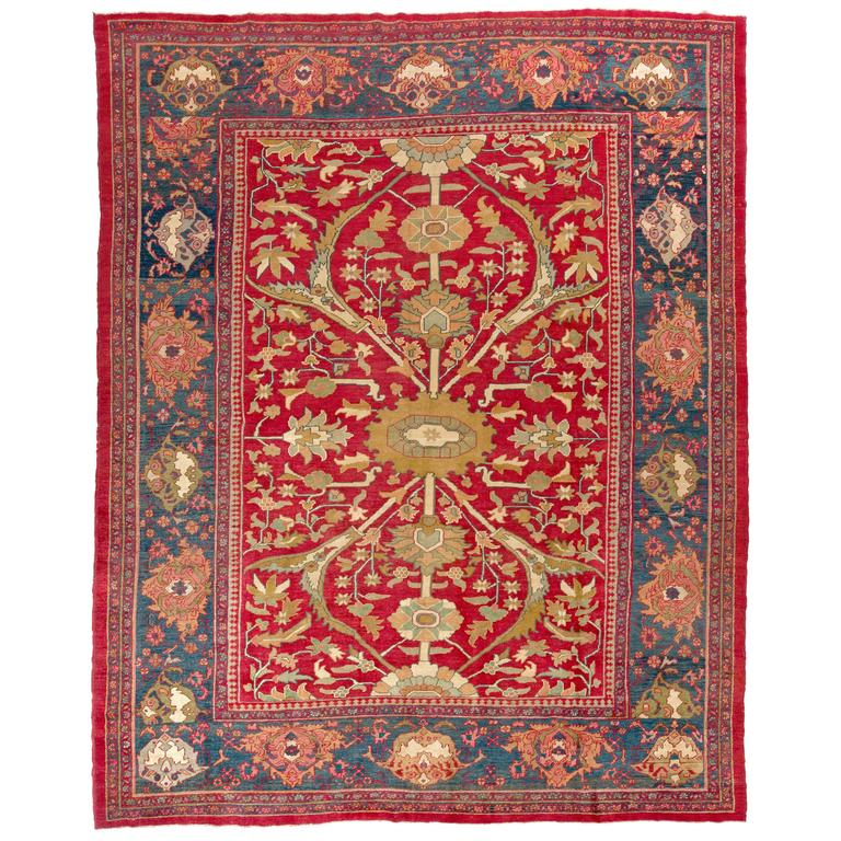 Persian Rugs For Sale: Antique Persian Ziegler Mahal Rug For Sale At 1stdibs