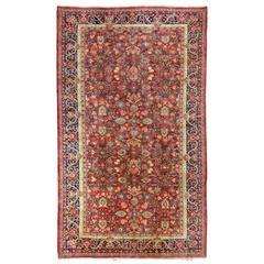 Large Antique Persian Mahal Carpet