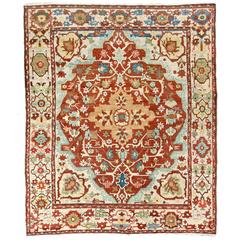 Outstanding Antique Persian Heriz Rug