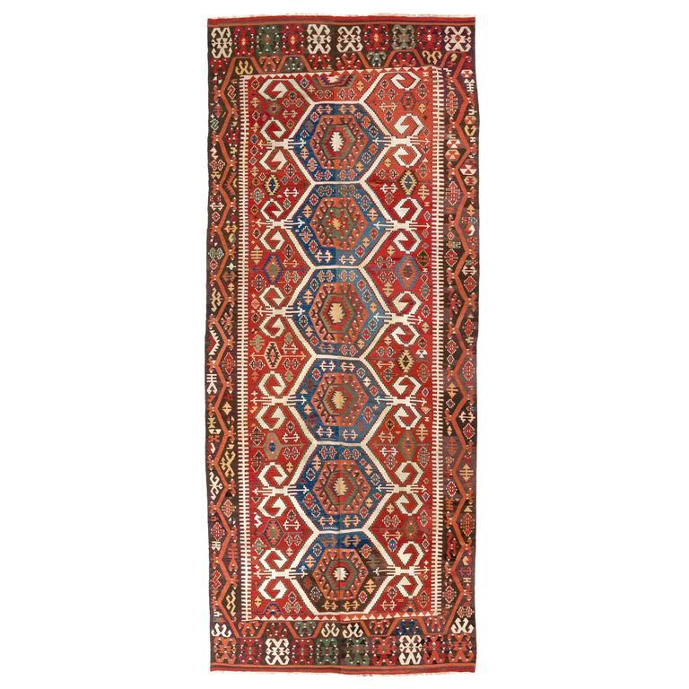 Antique Konya Kilim, Flatweave Rug