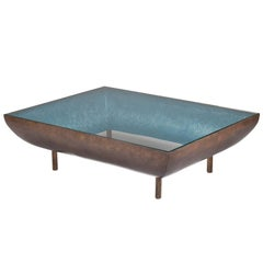 Anthony Coffee Table by Francis Sultana, Bronze, Glass