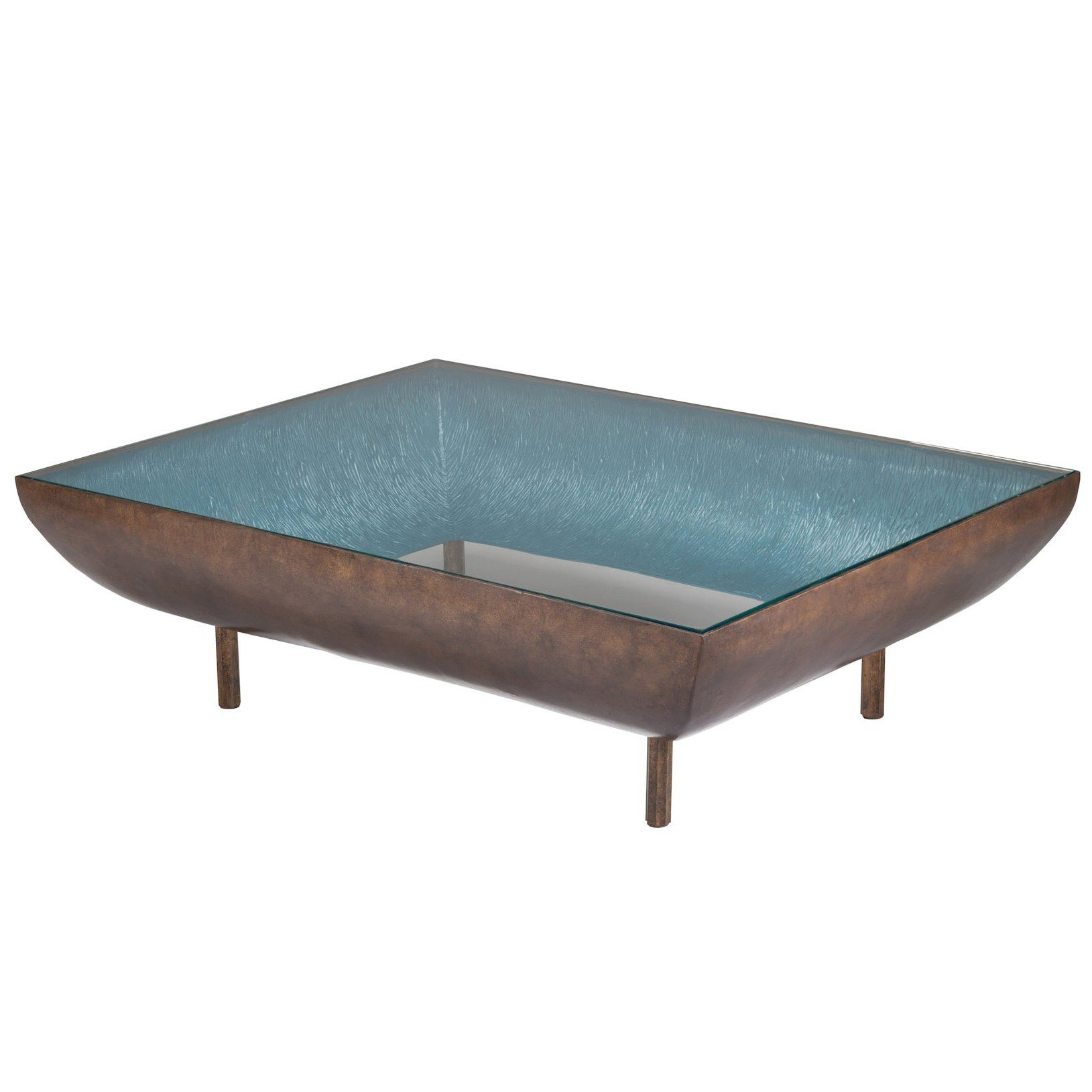 Anthony Coffee Table By Francis Sultana, Bronze, Glass For Sale