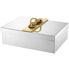 Gold Knot Jewelry Box in Nickel Finish