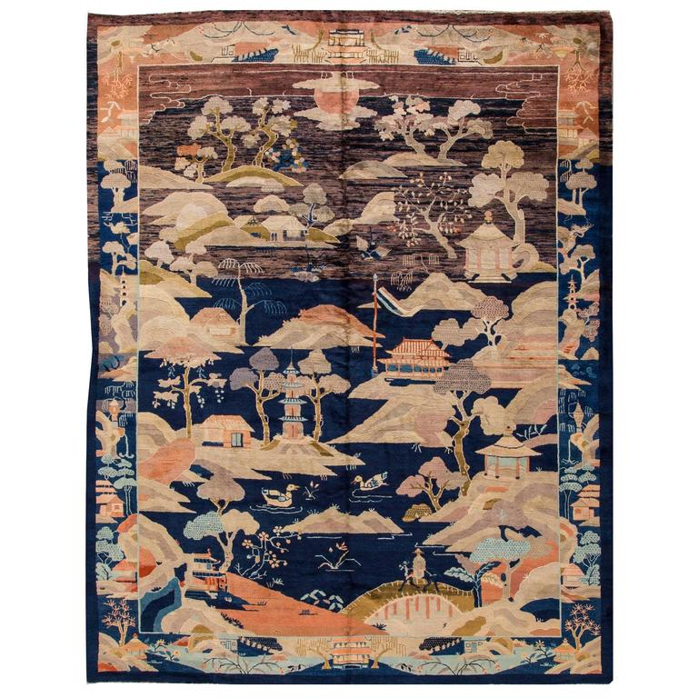 Fabulous Fette Art Deco Chinese Rug For Sale at 1stdibs GY92