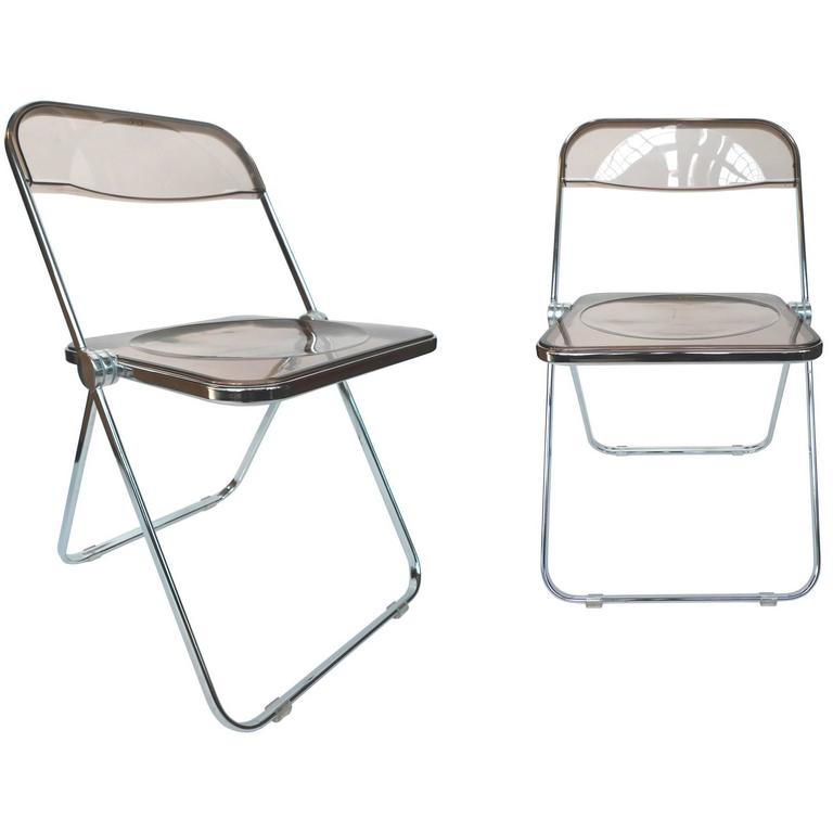 Charmant 1960s Plia Lucite U0026 Chrome Folding Chairs By Giancarlo Piretti   A Set Of 6  For