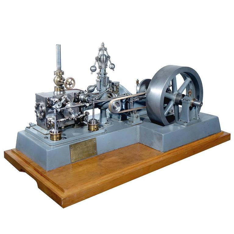 Complex Working Corliss Steam Engine Model 1