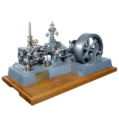Complex Working Corliss Steam Engine Model