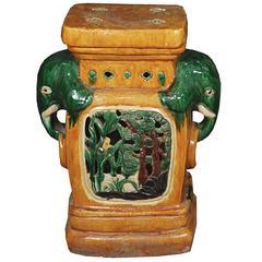Chinese Double Elephant Stool