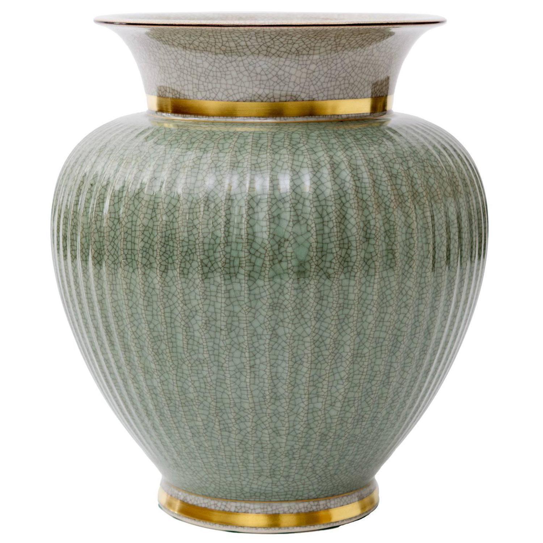 Scandinavian modern royal copenhagen green crackle glaze vase scandinavian modern royal copenhagen green crackle glaze vase with gold for sale at 1stdibs reviewsmspy
