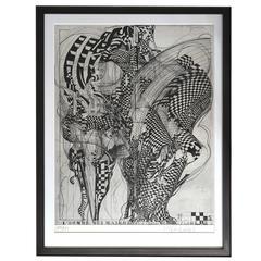 """L'Homme Qui Marche"" by metal sculptor Bernhard Luginbühl"