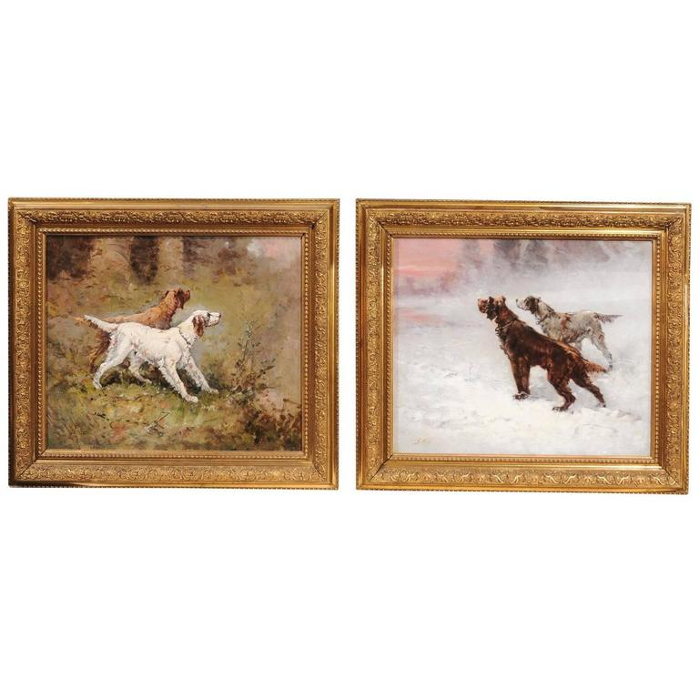 Pair of French paintings, ca. 1910, signed G. Ben, offered by English Accent Antiques