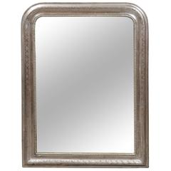 French Silver Gilt Louis-Philippe Mirror from the Turn of the Century