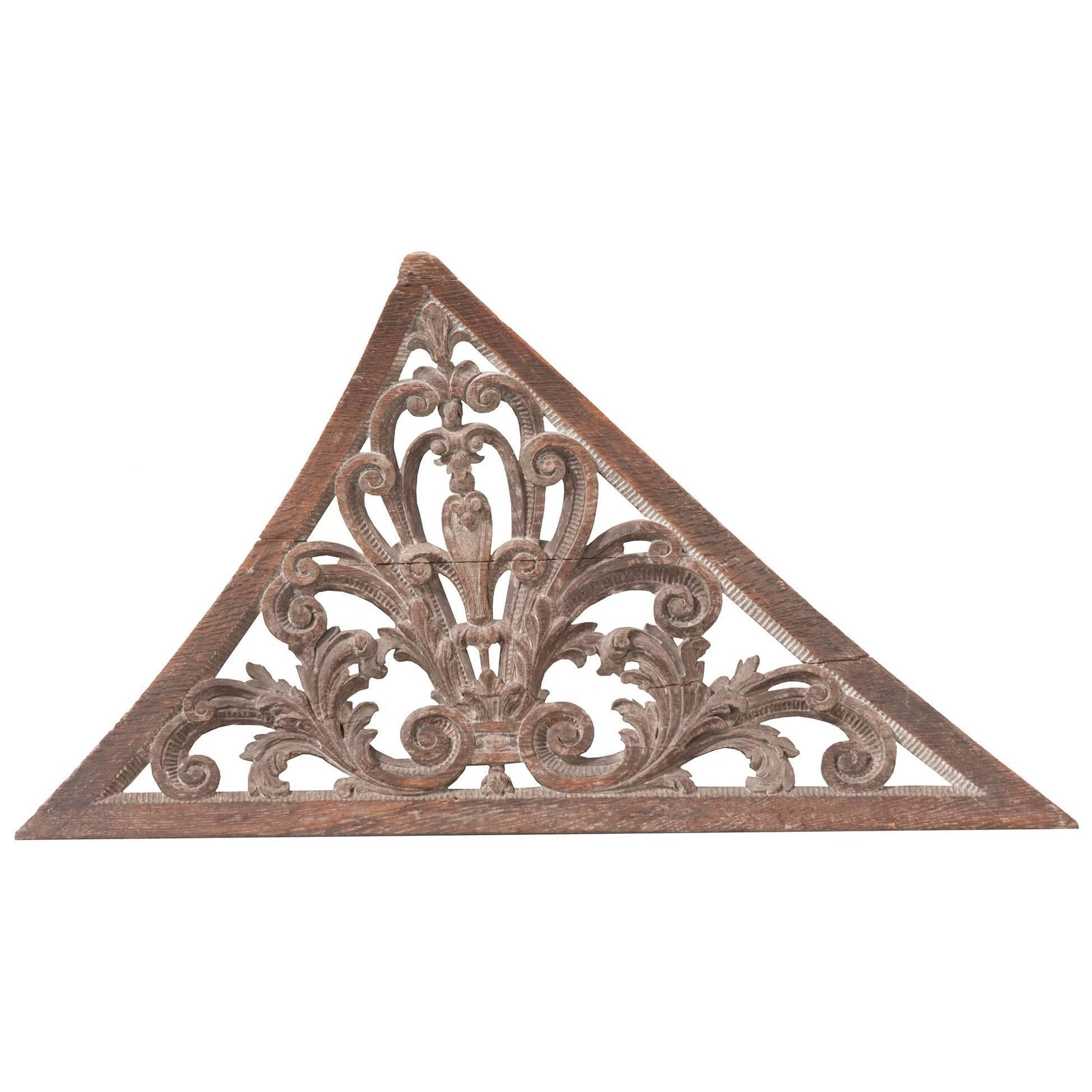 18th Century Swedish Carved Stairwell Ornament