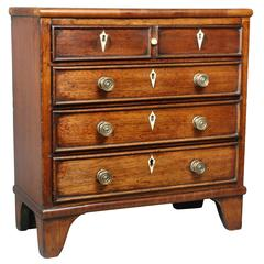 George III Mahogany Miniature Chest of Drawers