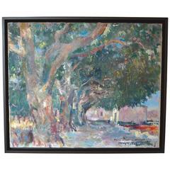 "René Zimmermann Landscape Painting, ""Varages Var"""