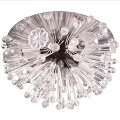 Sputnik Chandelier Crystal & Chrome by Emil Stejnar, Rupert Nikoll, Austria 1950