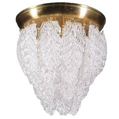 "Cascading Murano Flush Mount ""Graniglia"" Leaves Chandelier"