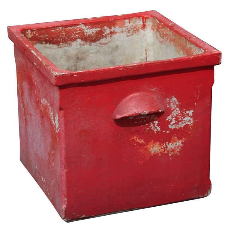Red Planter from France For Sale