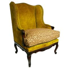 louis xv walnut chaise circa