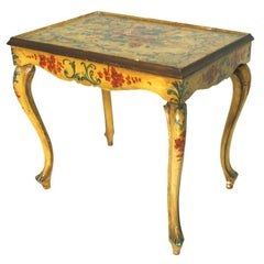 Venetian Painted Side Table, 18th c