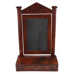 Psyche, Biedermeier Period circa 1830-1840, Mahogany Veneered, Tiltable Mirror