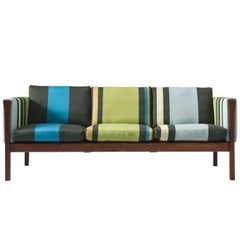 Hans Wegner Reupholstered Three-Seat Sofa in Paul Smith Fabric