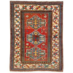 Antique Caucasian Armenian Kazak Rug