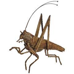 Brass Cricket Sculpture by Daniel Dhaseleer