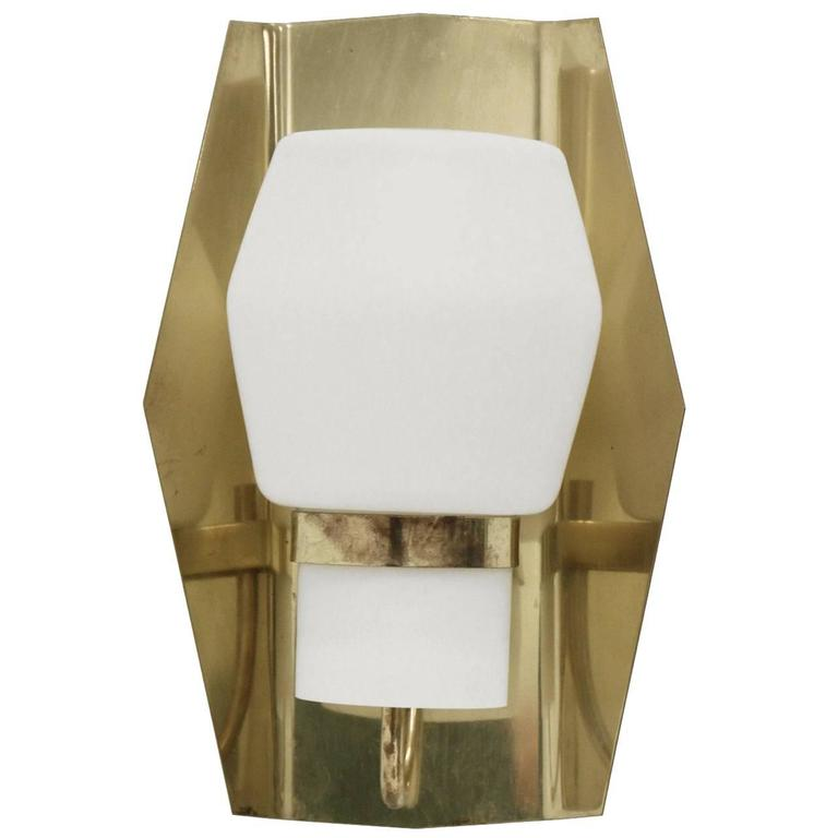 Large and Decorative Wall Light in Brass by Jonas Hidle, 1960s