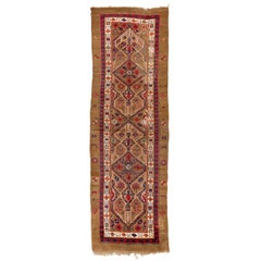 Antique Northwest Persian Serab Runner. Camel Wool.