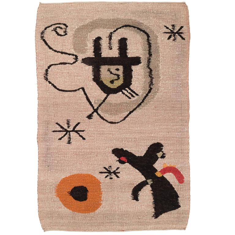 Tapestry in the style of Miro