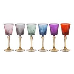 Set of Six Domina Liquor Chalices