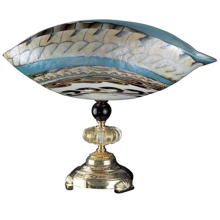 Murano Curved Glass Centerpiece