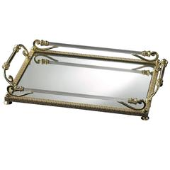 Small Grey and Gold Tray