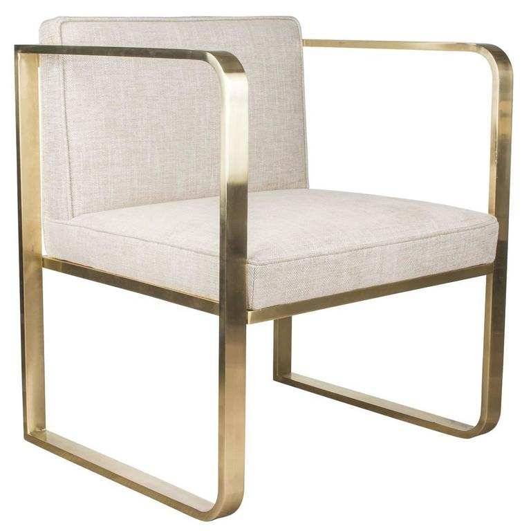 Exquisite Handmade Brass Armchair 1