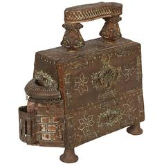Moroccan Early 20th Century Incised Brass Shoe Shine Stand