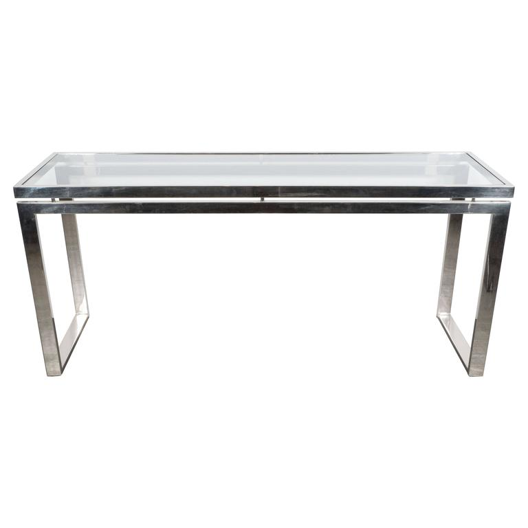 Midcentury Modernist Chrome And Glass Console Or Sofa. Round Pub Table Sets. Milling Table For Drill Press. Wooden Kitchen Drawer Organizer. Wooden Desk With Hutch. Drawer Latch. Drawer Gun Safe. Marble Console Table. Diy Fold Away Desk