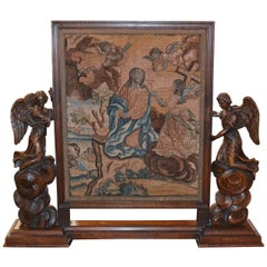 Rare 18th Century Italian Angelic Tapestry Panel