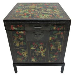 Chinoiserie Antique Painted Box Table