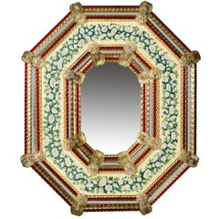 Octagonal Venetian Mosaic Mirror