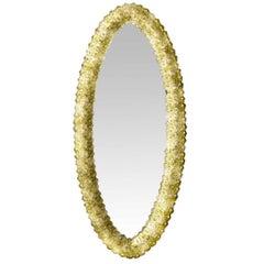 Oval Venetian Glass Mirror