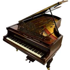 Bluthner Grand Piano in Rosewood with Vernis Martin Styling