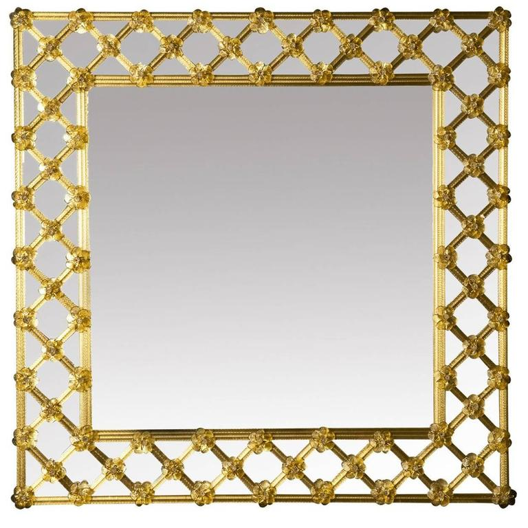 Ambra Venetian Glass Mirror