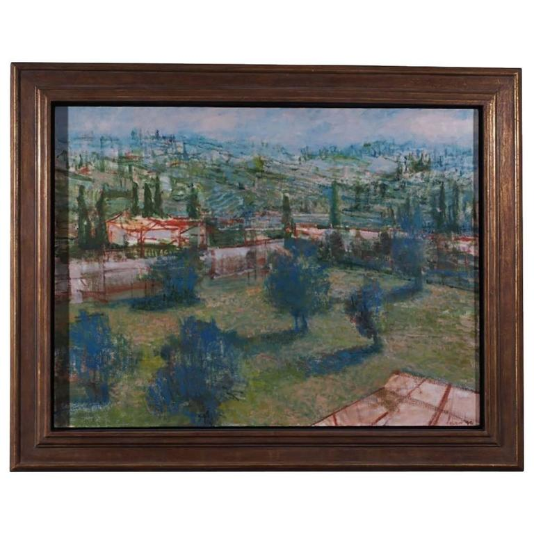 Extensive Landscape by Peter Solow 'Oil On Canvas'