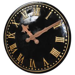 Large Clock Face with Copper Hands Working Electric Movement