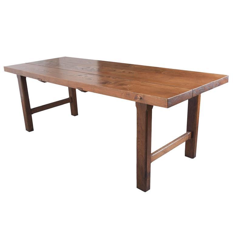 French 19th Century Oak Farm Table
