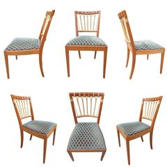 Set of Six Mid-Century Dining Chairs Josef Frank