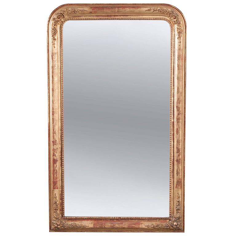 French 19th Century Louis Philippe Gold Gilt Mirror